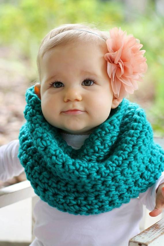 Lovely Crochet Turquoise toddler Child Cowl Infinity Scarf Child Infinity Scarf Of Superb 49 Models Child Infinity Scarf