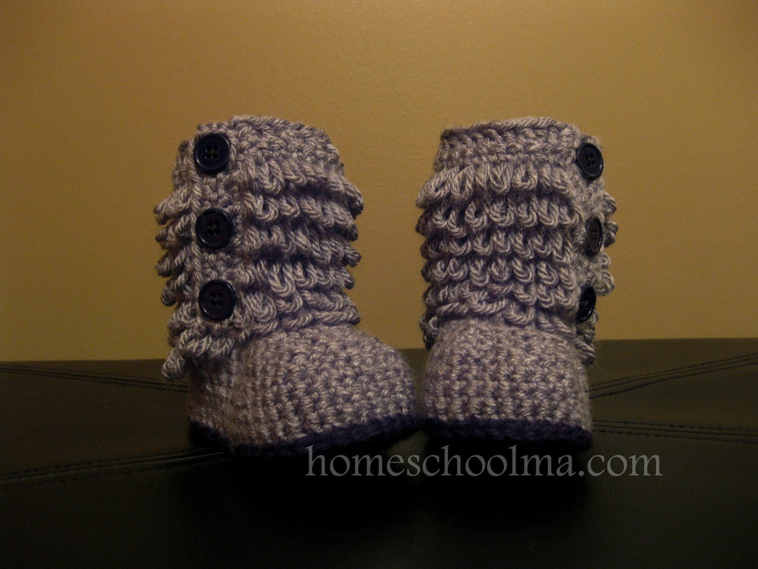Lovely Crochet Ugg Inspired Baby Boots Grey Black sole & buttons Crochet Ugg Of New 40 Ideas Crochet Ugg
