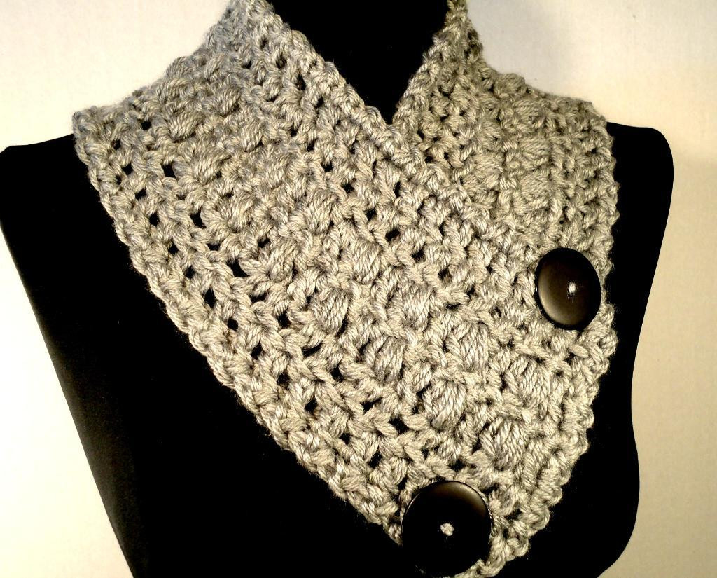 Lovely Crochet Wrap Patterns with buttons Dancox for Crochet button Scarf Of Top 47 Images Crochet button Scarf