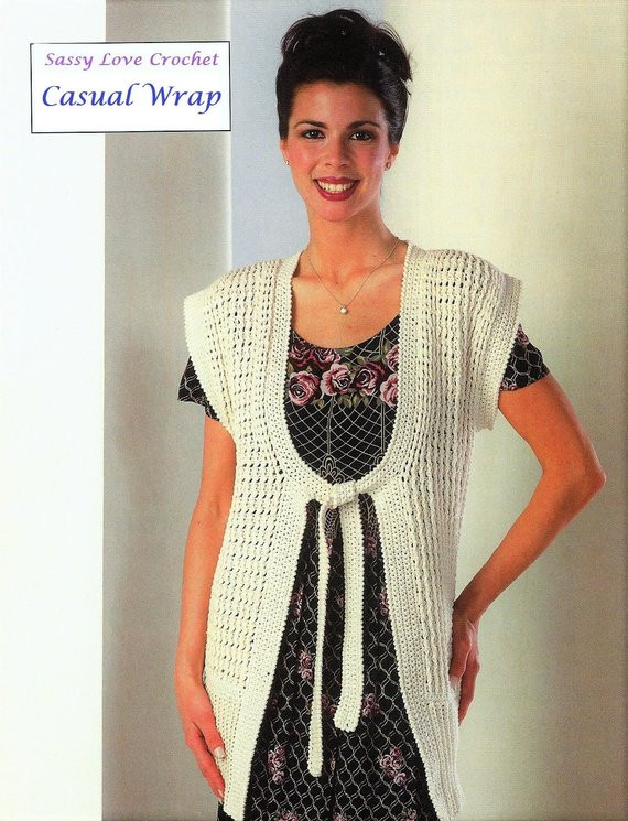Lovely Crochet Wrap Vest Pattern Duster Style Womens Crochet Womens Crochet Vest Of Amazing 47 Pics Womens Crochet Vest
