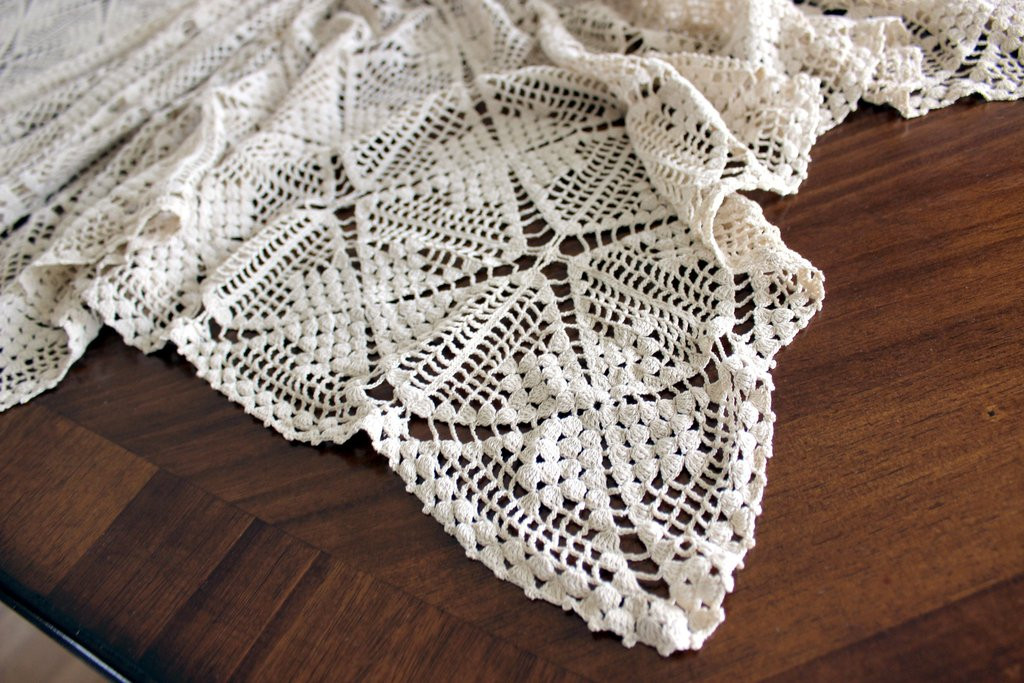 Lovely Crocheted Lace Tablecloth Vintage Handmade Crochet Crochet Lace Tablecloths Of Luxury 47 Images Crochet Lace Tablecloths