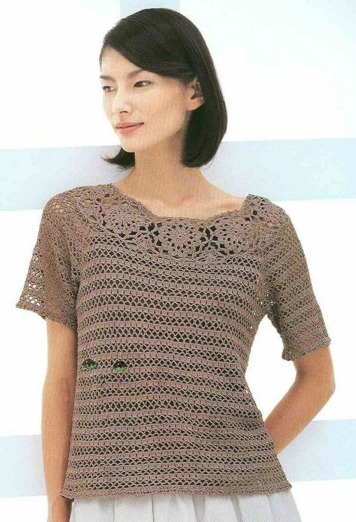 Lovely Crochetpedia Crochet Tshirt Blouse Crochet Blouse Of Superb 46 Models Crochet Blouse