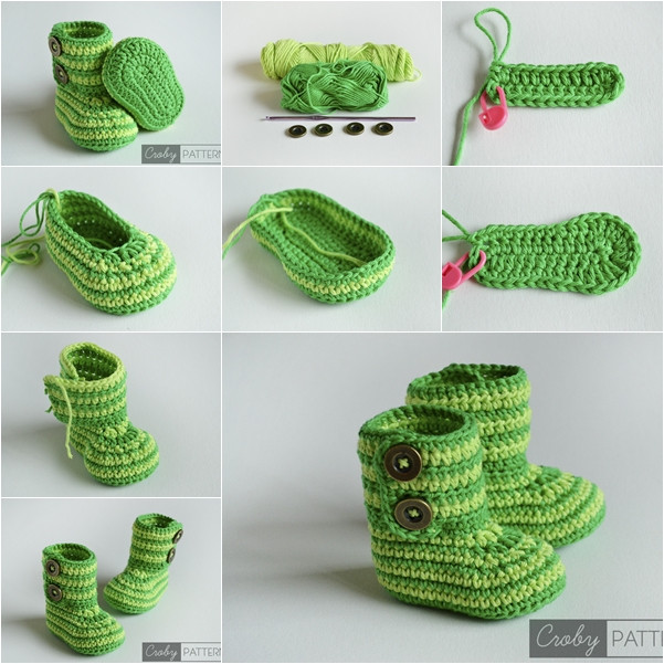 Lovely Cuddly Crochet Baby Booties Free Pattern and Tutorial Crochet Baby Slippers Of Marvelous 50 Images Crochet Baby Slippers
