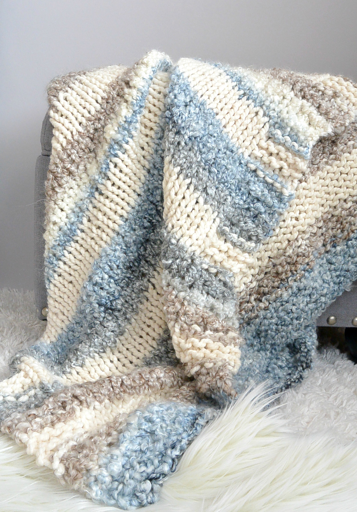 Lovely Cuddly Quick Knit Throw Blanket Pattern – Mama In A Stitch Knitted Throw Pattern Of Awesome 45 Photos Knitted Throw Pattern