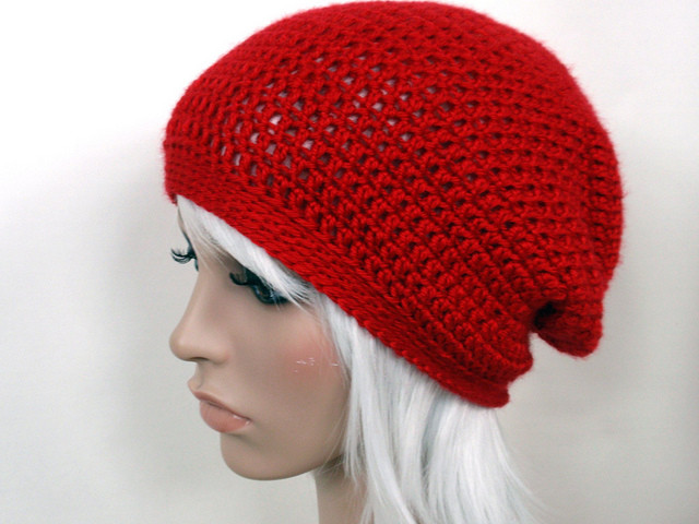 Lovely Custom Creation Red Crochet Slouch Hat Jenn Likes Yarn Red Slouchy Beanie Of New 50 Models Red Slouchy Beanie