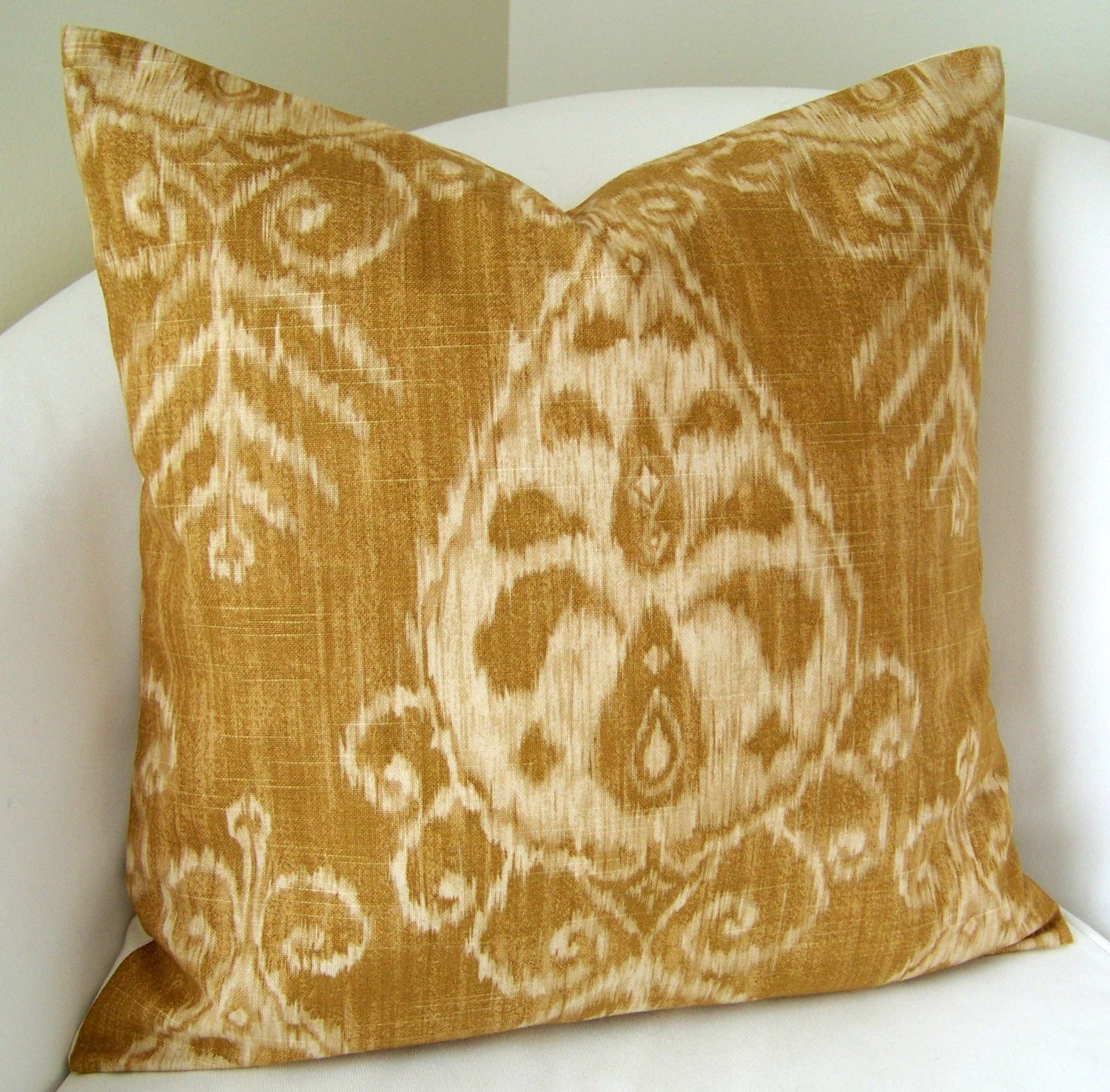 Lovely Decorative Throw Pillow Cover Gold Ikat Pillow 20×20 Inch Patterned Throw Of Amazing 40 Photos Patterned Throw