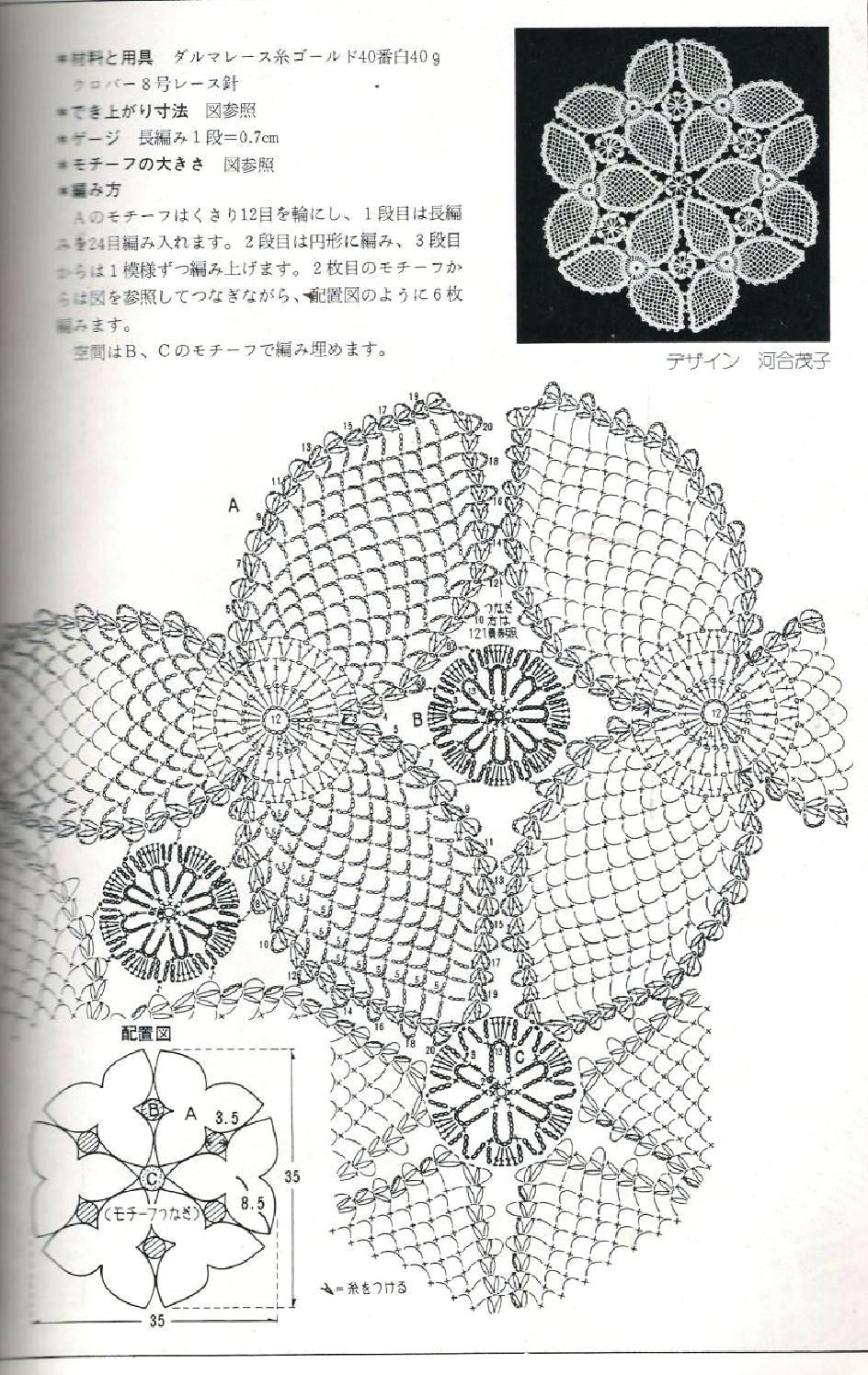 Lovely Diagram Crochet Doily Patterns with Diagram Crochet Pattern Diagram Of Gorgeous 42 Pics Crochet Pattern Diagram