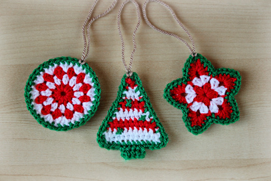 Different types of crochet christmas ornaments Crochet