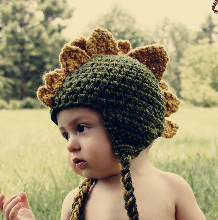 Lovely Dinosaur toys Stuffed Animals and Clothes for Kids Crochet Dinosaur Hat Of Beautiful 44 Photos Crochet Dinosaur Hat