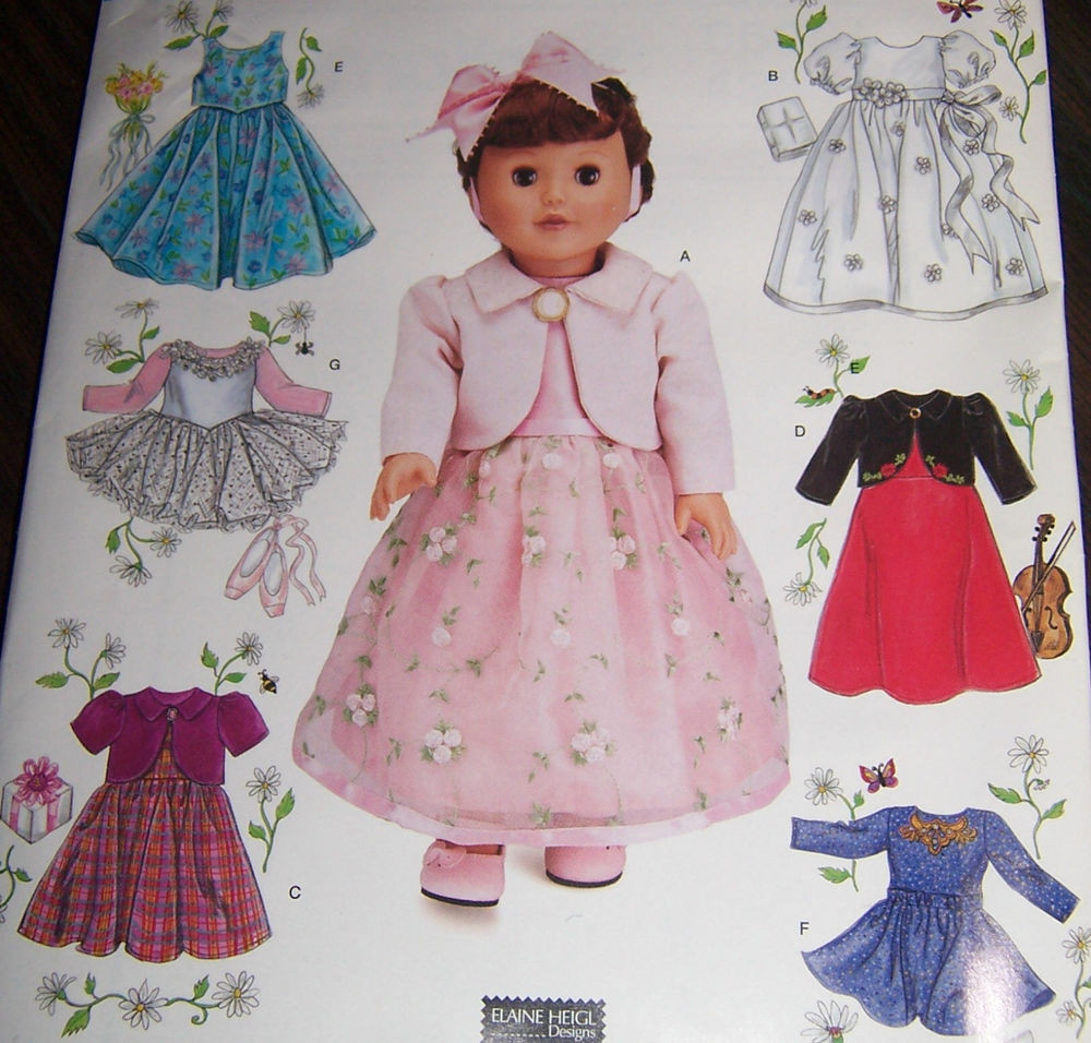 """Lovely Doll Clothes Pattern 18"""" Fits American Girl Ballet Party American Girl Doll Dress Patterns Of Incredible 48 Models American Girl Doll Dress Patterns"""