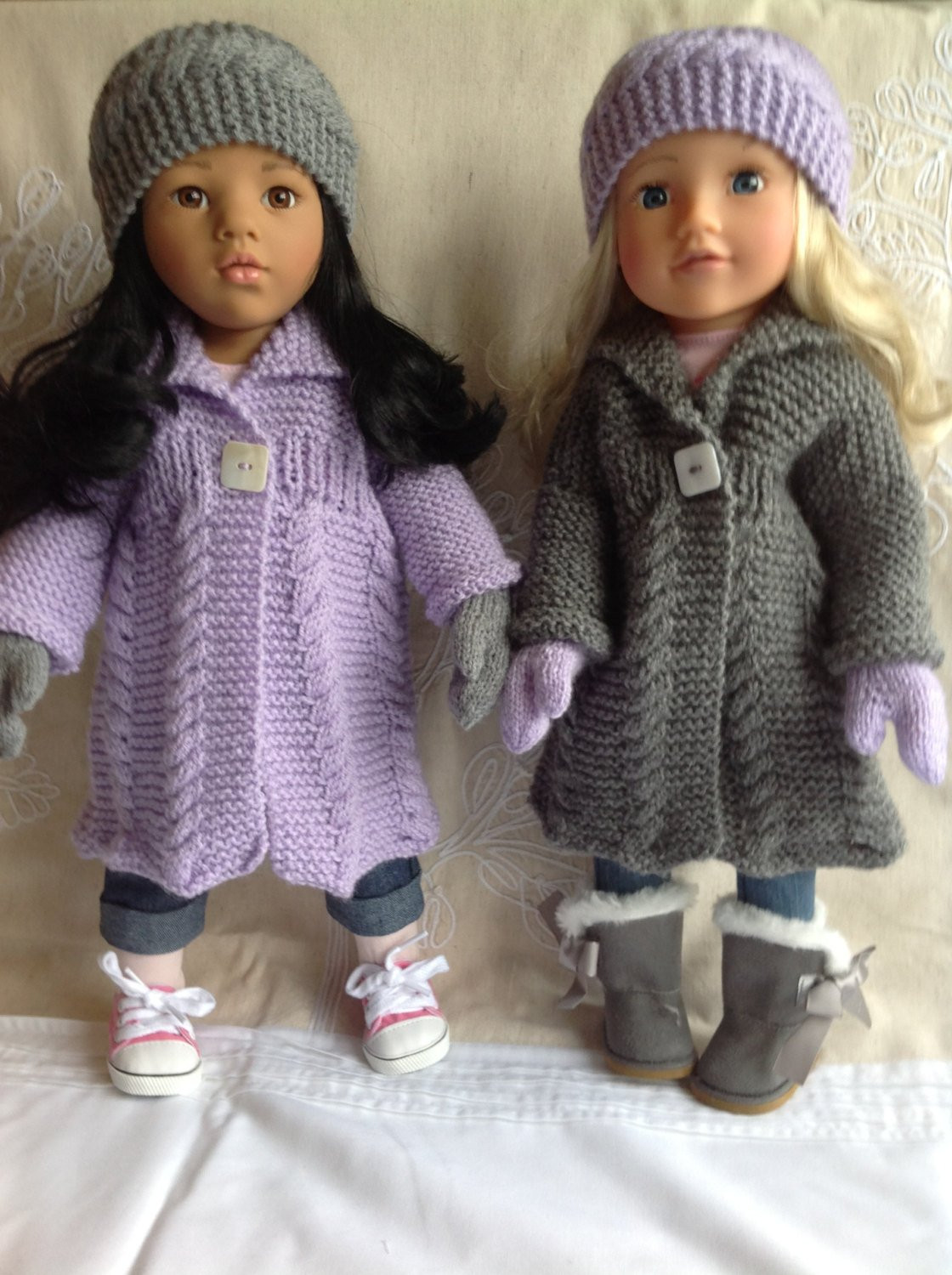 """Lovely Dolls Fashion Clothes Knitting Pattern 18"""" Doll Gotz American Girl Doll Patterns Of Delightful 40 Photos American Girl Doll Patterns"""