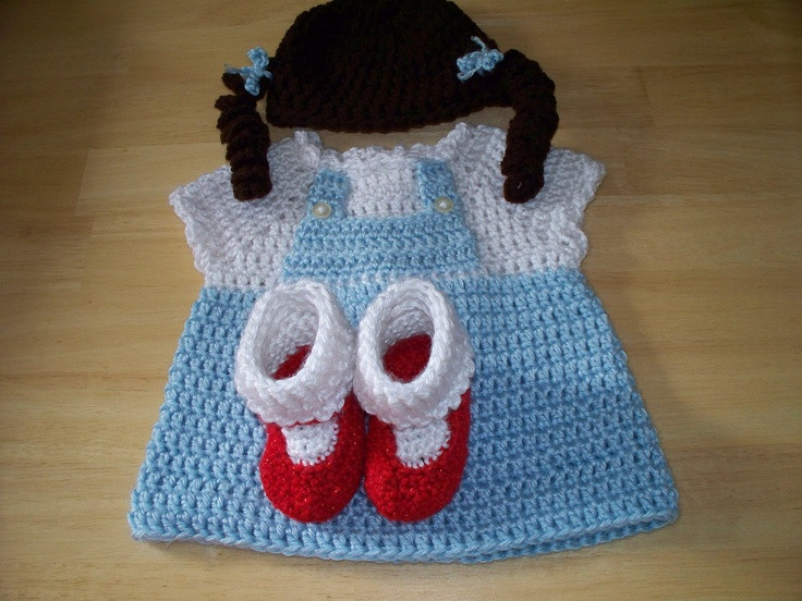 Lovely Dorothy From the Wizard Of Oz Crocheted Baby Costume $25 Crochet Baby Costumes Of Incredible 41 Models Crochet Baby Costumes