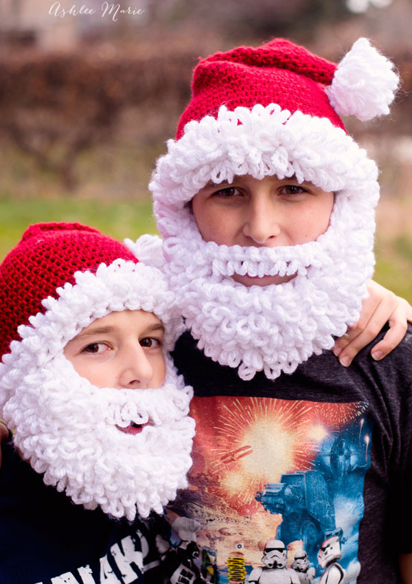 Lovely Double Loop Crochet Santa Beard Pattern Multiple Sizes Santa Hat Pattern Of Best Of Crochet Santa Hat Santa Hat Pattern