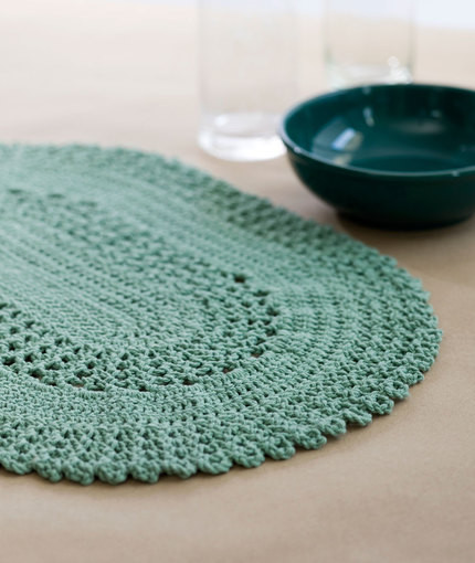 Lovely Dress Up Your Table with these Stylish Crochet Placemats Crochet Placemat Of Top 40 Pics Crochet Placemat