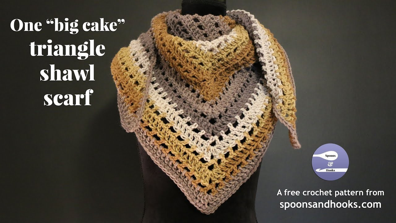 Lovely E Big Cake Triangle Shawl Scarf Free Crochet Pattern Triangle Scarf Pattern Of Top 49 Models Triangle Scarf Pattern
