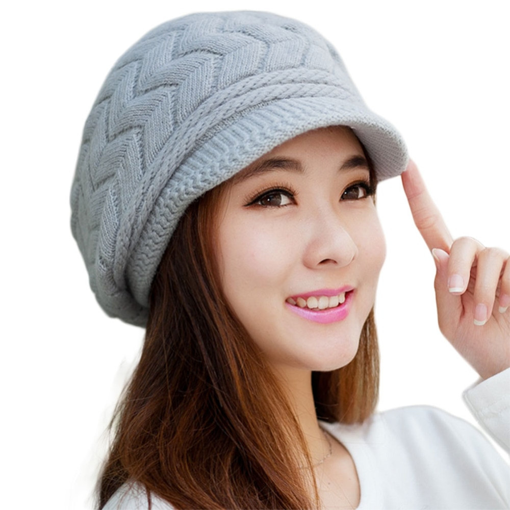 Lovely ᑐhot Autumn Winter Beanies Knitted ᐃ Hats Hats Rabbit Fur Ladies Knitted Hats Of Adorable 50 Pictures Ladies Knitted Hats