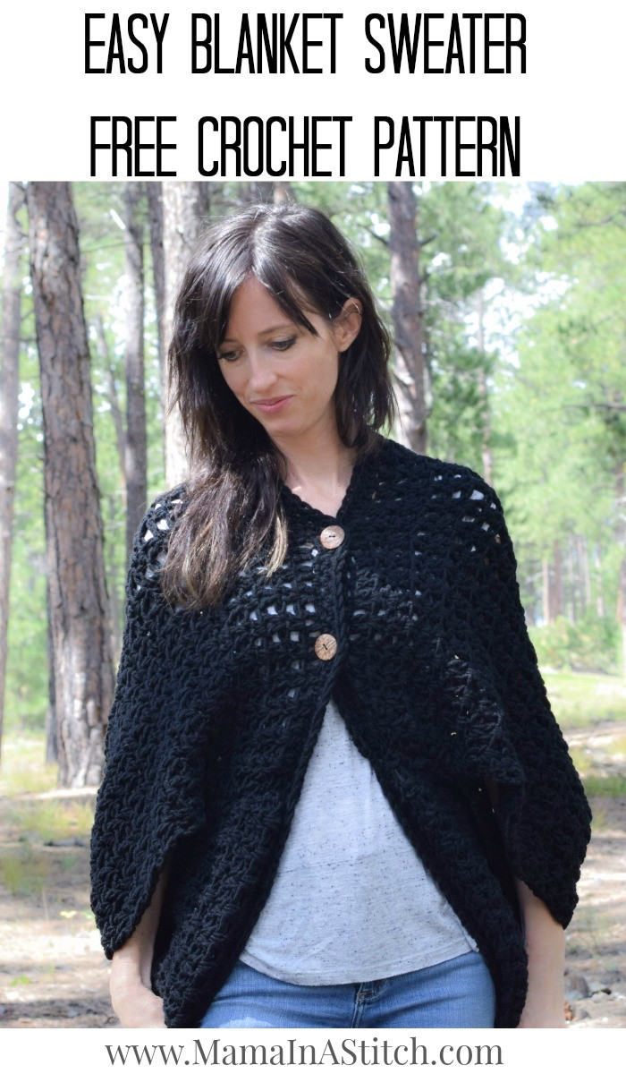 Lovely Easy Blanket Sweater Crochet Pattern – Mama In A Stitch Crochet Hoodie Pattern Of Perfect 41 Pictures Crochet Hoodie Pattern