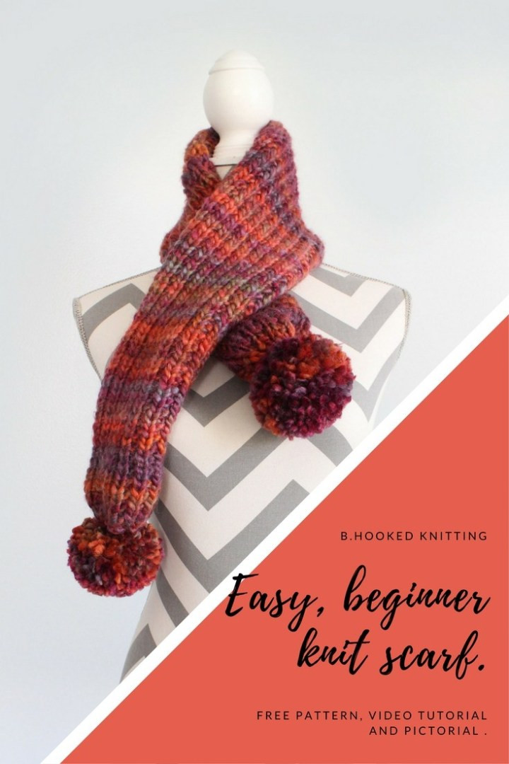 Lovely Easy Knit Scarf for Beginners Tutorial From B Hooked Easy Scarf Knitting Patterns for Beginners Of Adorable 49 Ideas Easy Scarf Knitting Patterns for Beginners