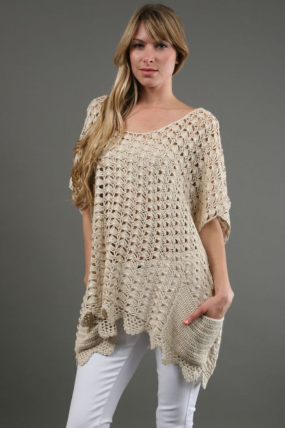 Lovely Easy Style Crochet top for Fashion La S – Designers Free Crochet Tunic Patterns Of Marvelous 46 Images Free Crochet Tunic Patterns