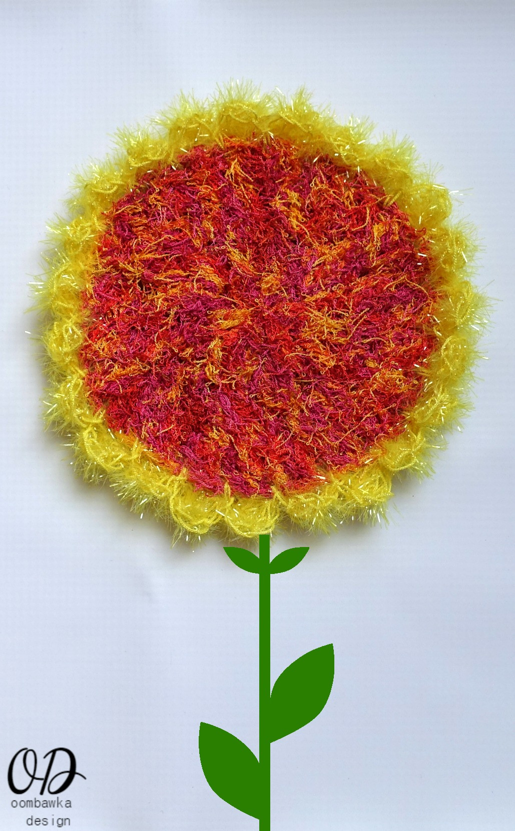 Lovely Easy Sunflower Scrubby Dishcloth • Oombawka Design Crochet Red Heart Scrubby Of Unique 48 Pictures Red Heart Scrubby