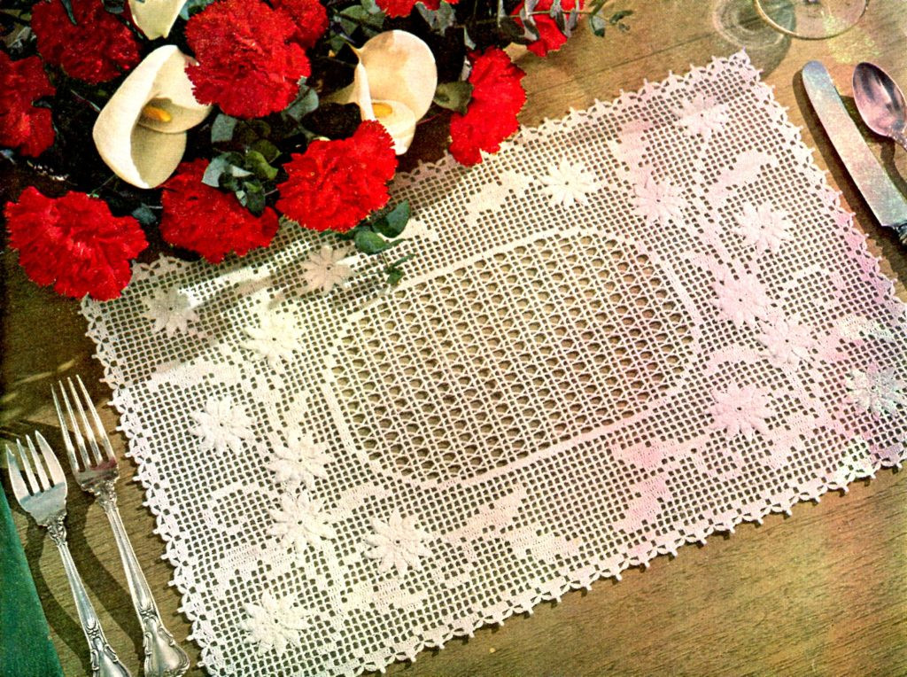 Lovely Embossed Daisy Placemat Free Filet Crochet Pattern Free Crochet Placemat Patterns Of Lovely 40 Pics Free Crochet Placemat Patterns
