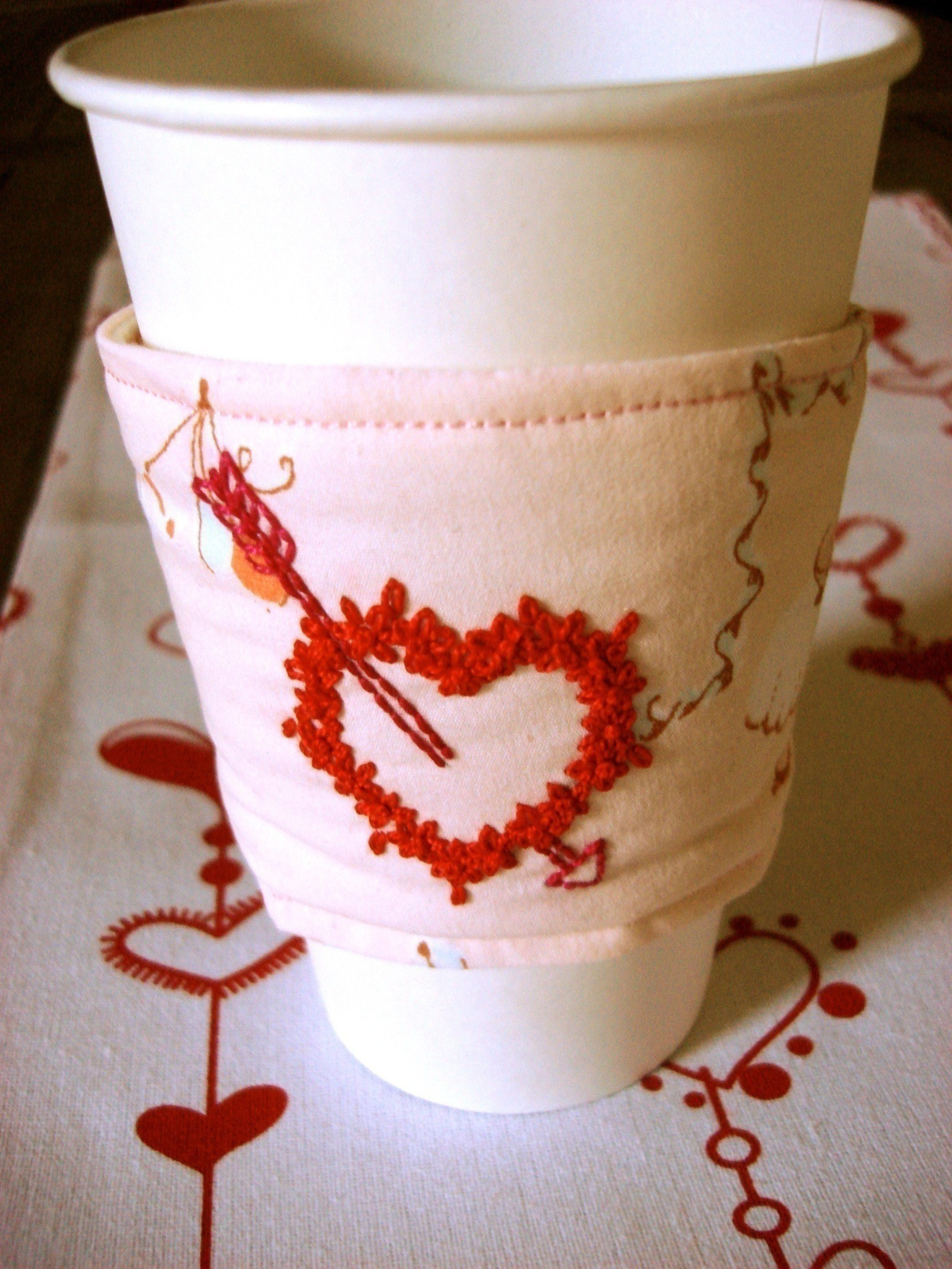 Lovely Embroidered Coffee Cup Cozy · How to Make A Mug Warmer Coffee Cup Cozy Of Awesome 47 Images Coffee Cup Cozy