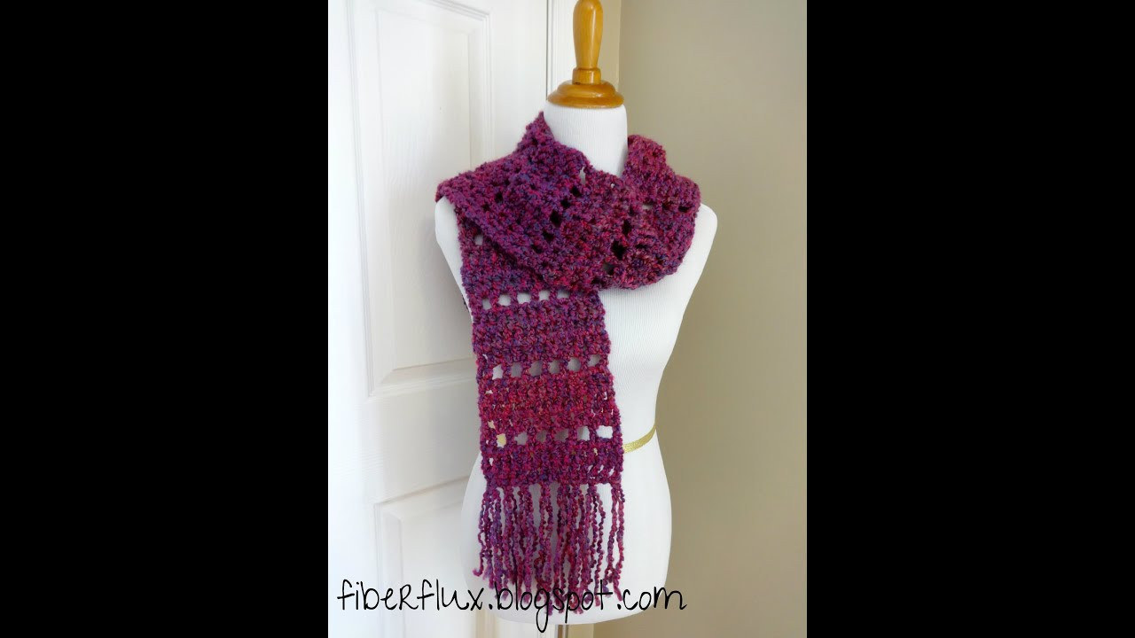Lovely Episode 35 How to Crochet the Mulberry Scarf Crochet Stitches for Scarves Of Gorgeous 48 Ideas Crochet Stitches for Scarves