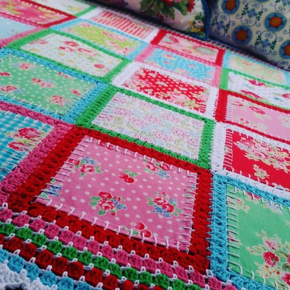 Lovely Fabric Crochet Quilt is the Project You Ve Been Looking for Crochet and Fabric Quilt Of Top 45 Models Crochet and Fabric Quilt