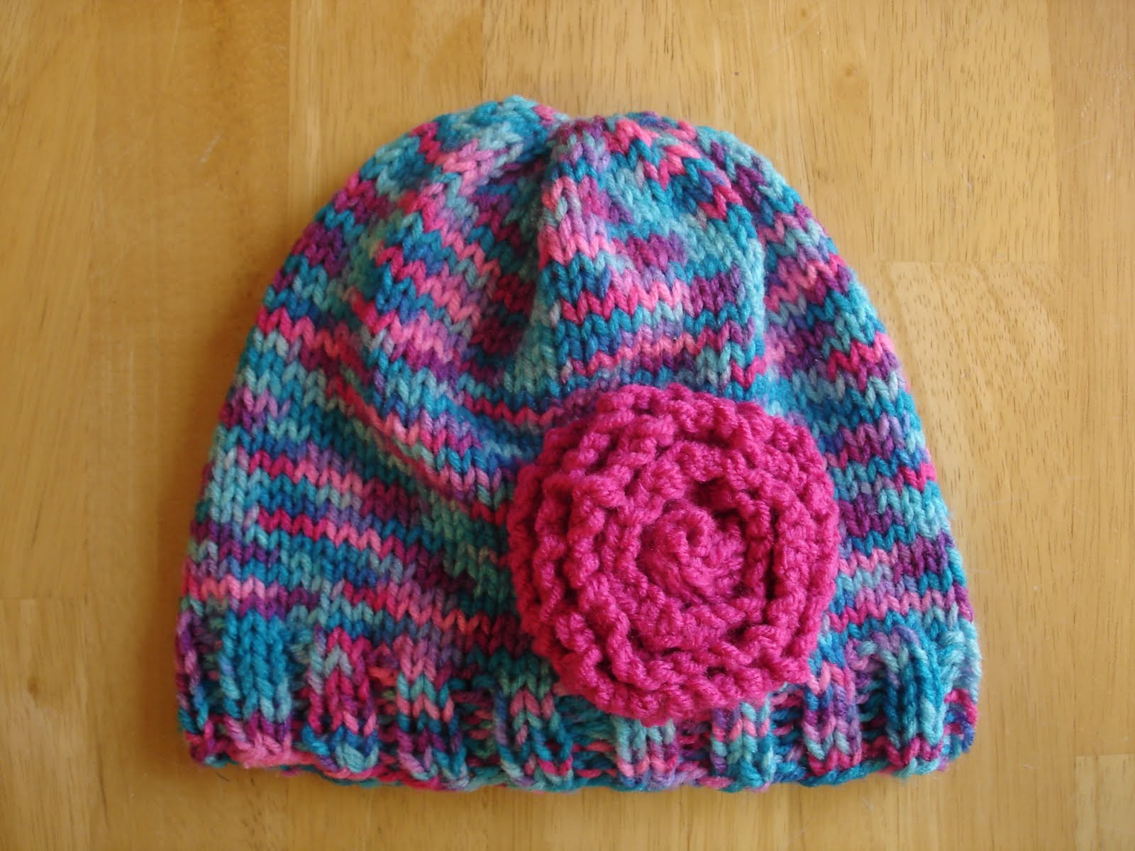 Fiber Flux Free Knitting Pattern Cotton Candy Hat