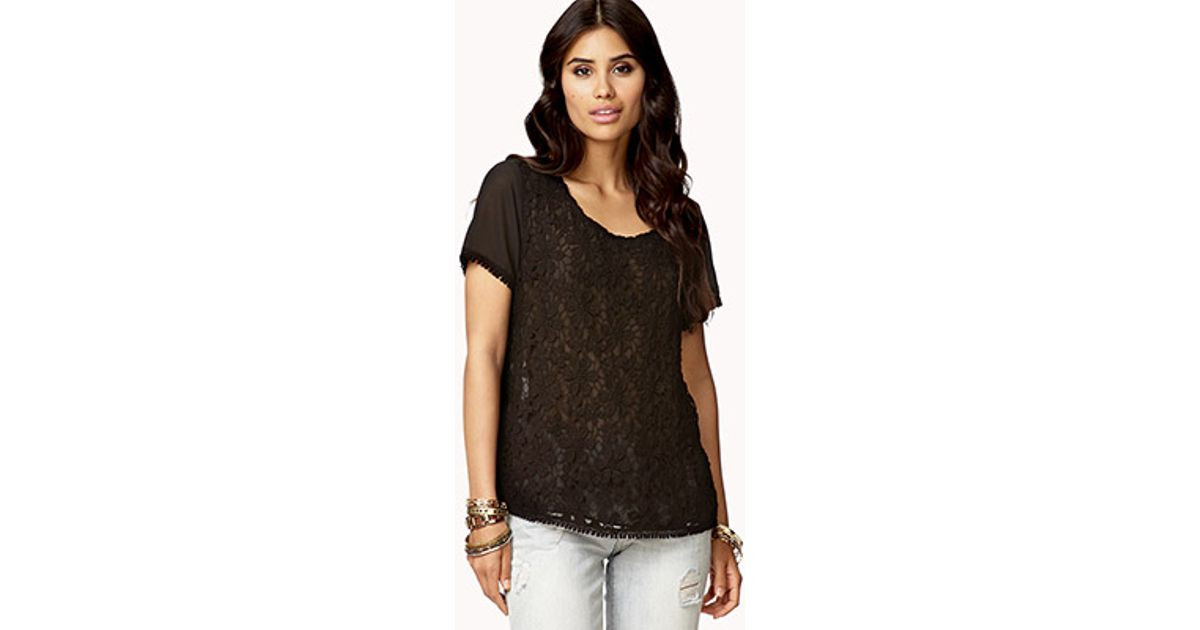 Lovely forever 21 Contemporary Floral Crochet top In Black Crochet tops forever 21 Of Amazing 46 Pics Crochet tops forever 21