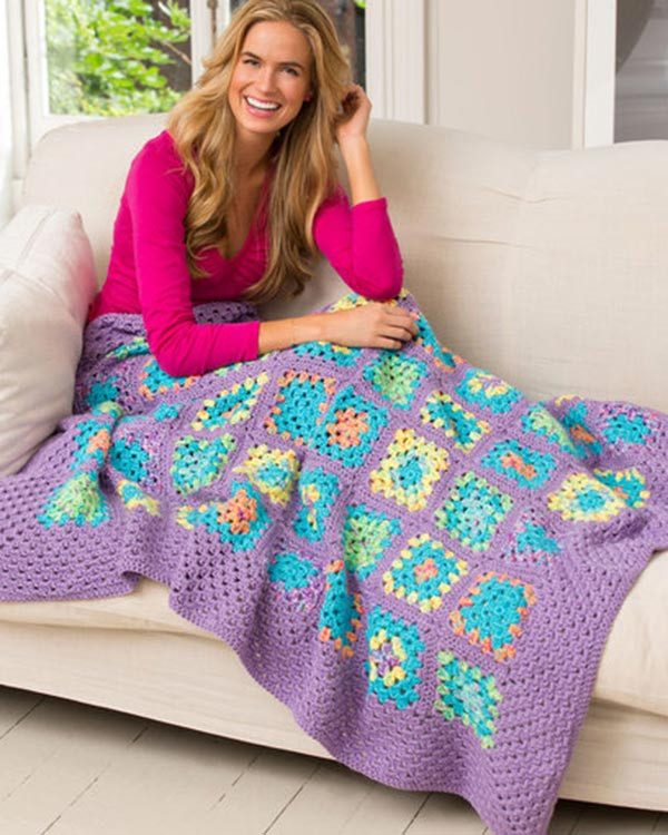 Lovely Free Cheerful Granny Square Throw Crochet Pattern From Heart Granny Square Of Brilliant 41 Pictures Heart Granny Square