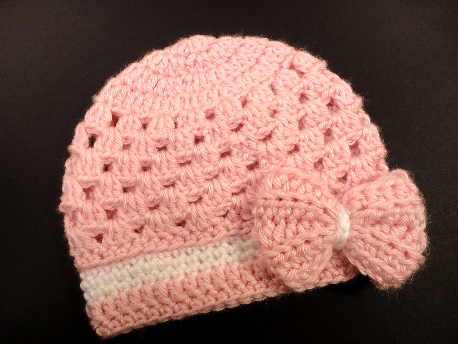free crochet baby hats patterns for beginners