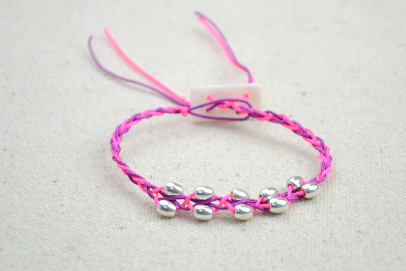 Free Crochet Bracelet Pattern With Beads · How To Braid A