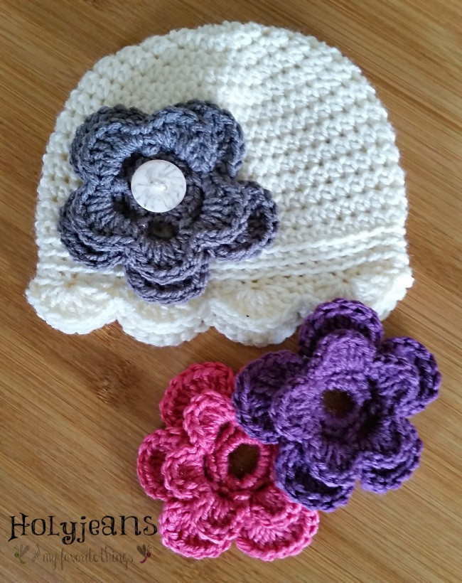 free crochet flowers for hats