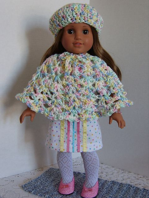 Lovely Free Crochet Pattern for A American Girl Doll Hat & Poncho American Girl Doll Crochet Patterns Of Adorable 47 Pics American Girl Doll Crochet Patterns