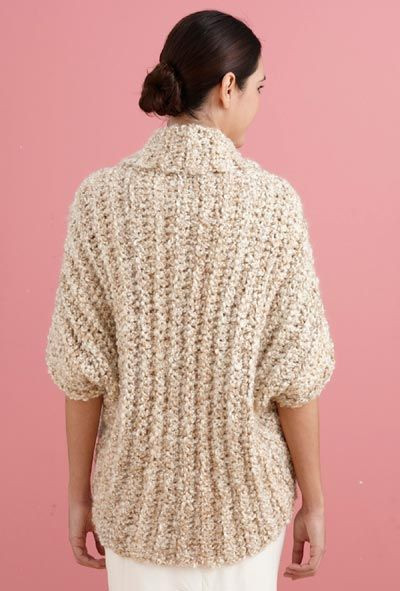 Free Crochet Pattern L B Simple Crochet Shrug Lion