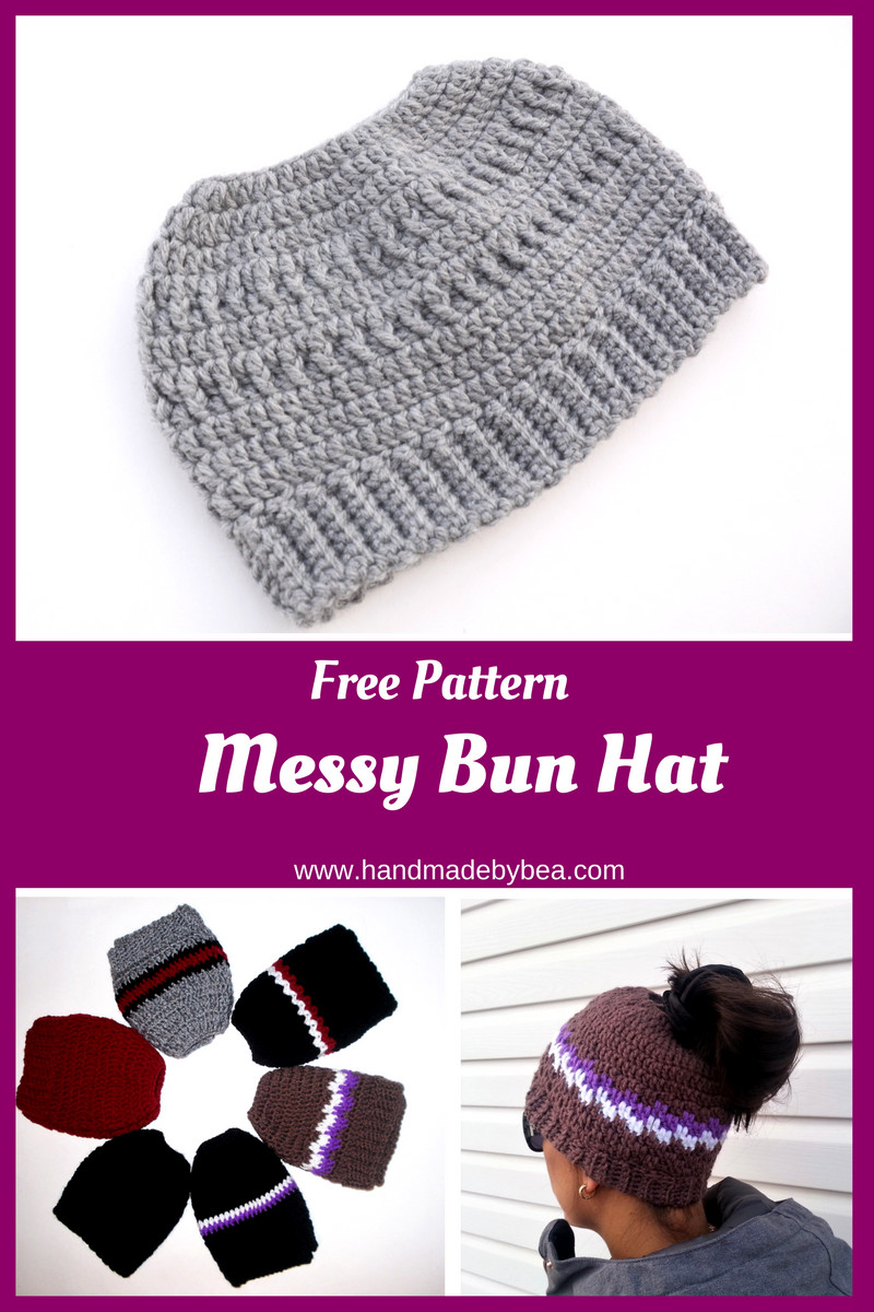 Lovely Free Crochet Pattern Messy Bun Hat Free Crochet Pattern for Messy Bun Hat Of Beautiful 47 Ideas Free Crochet Pattern for Messy Bun Hat