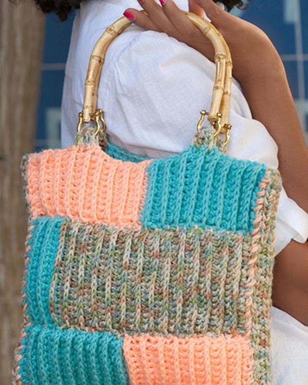 Lovely Free Crochet Pattern Ribbed Project Bag From Redheart Redheart Com Crochet Patterns Of Amazing 43 Ideas Redheart Com Crochet Patterns