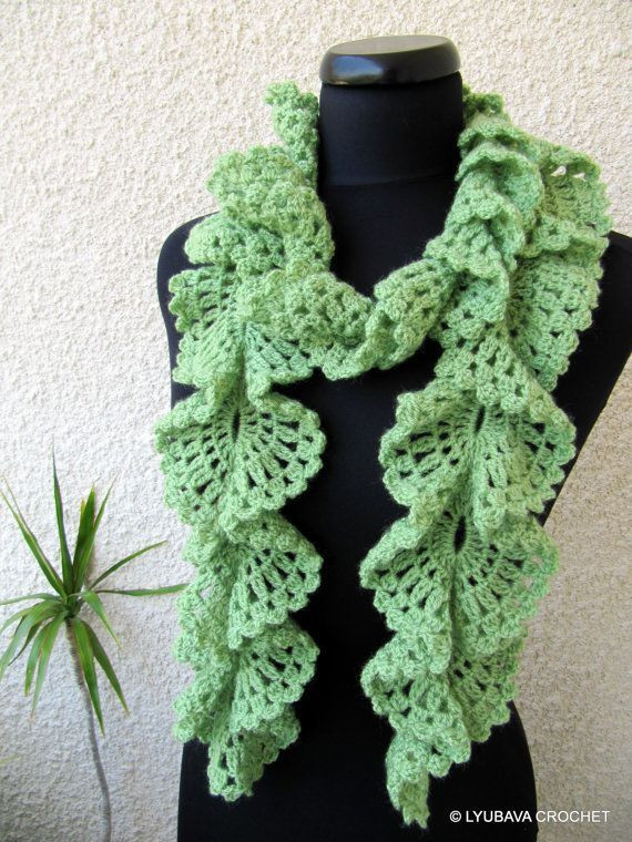 free crochet ruffled scarf patterns Yahoo Search Results