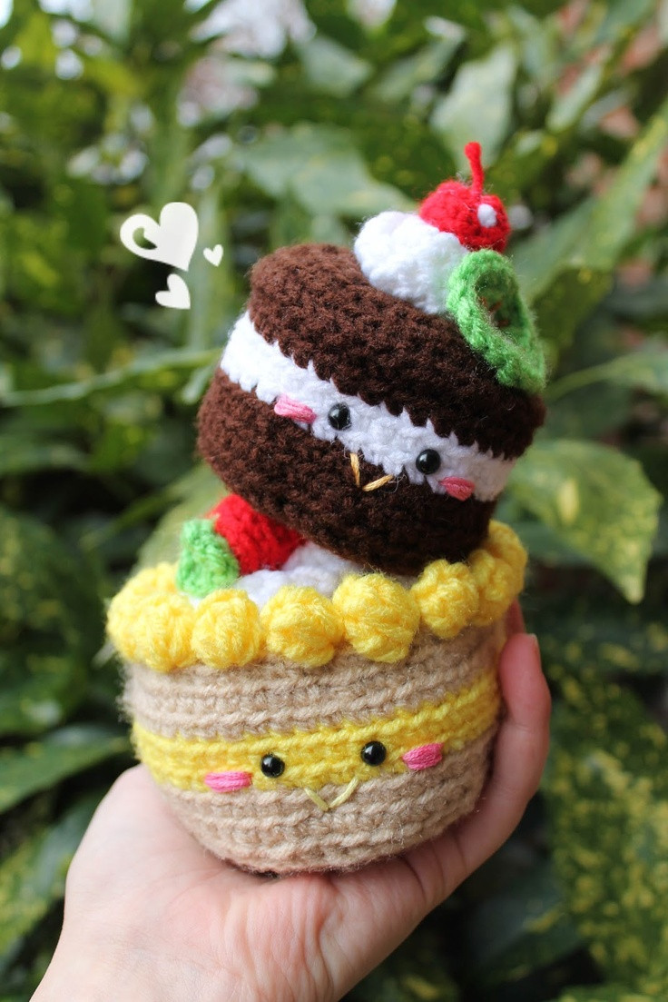 Lovely Free Pattern Chocolate Cake Amigurumi Food and More Crochet Cake Of Incredible 40 Ideas Crochet Cake