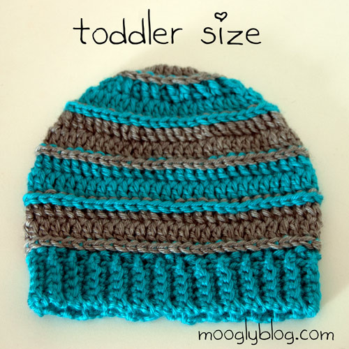 Free Pattern Sweet Striped Crochet Hat for Babies and Kids