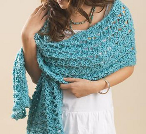 Lovely [free Pattern] the Perfect Wrap for Cool Summer evenings Free Crochet Wrap Patterns Of Elegant Crochet Shawl Pattern Crochet Wrap with Pineapple Motif Free Crochet Wrap Patterns