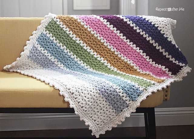 Lovely [free Pattern] This Quick and Easy Chunky Crochet V Stitch Free Crochet Lapghan Patterns Of Gorgeous 49 Ideas Free Crochet Lapghan Patterns