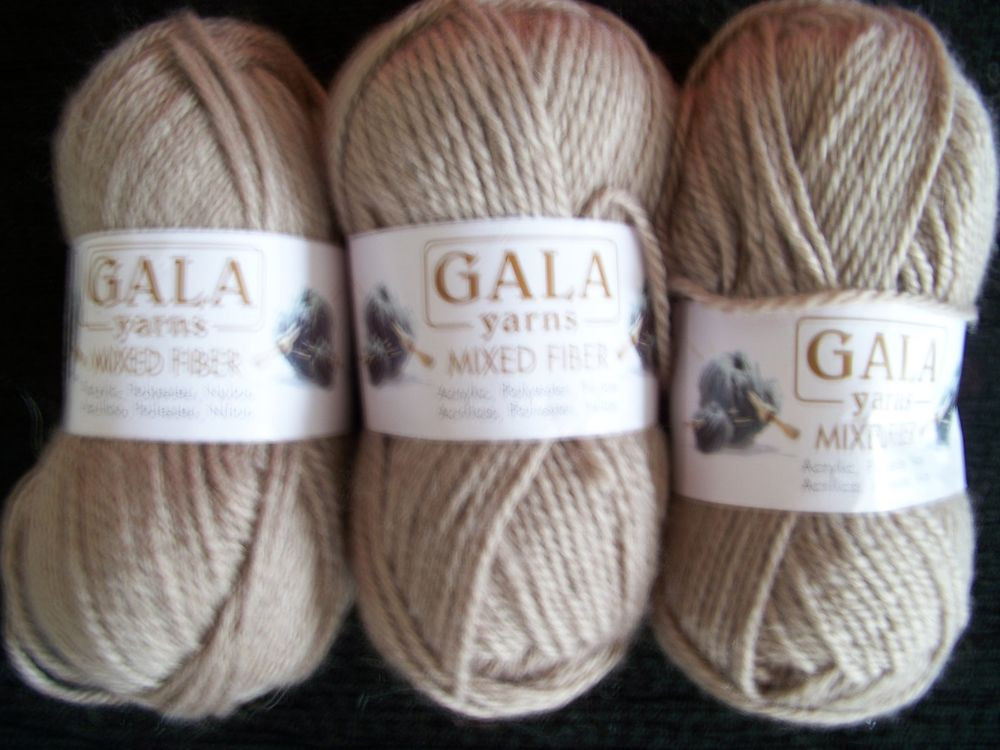 Lovely Gala Yarns Worsted Weight Yarn Tan Lot Of 3 Yarn Thickness Of Innovative 50 Pictures Yarn Thickness