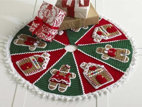Lovely Gingerbread Tree Skirt Crochet Pattern – Maggie S Crochet Crochet Tree Skirt Of Innovative 45 Ideas Crochet Tree Skirt