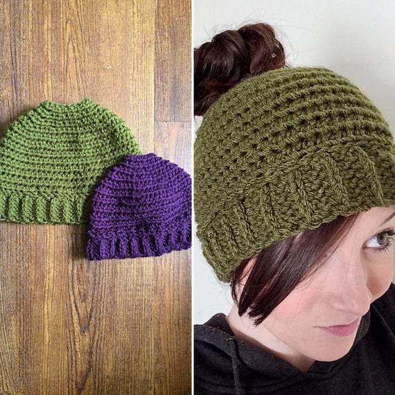 Lovely Girls La S Crochet Beanie Hat with Hole for Ponytail Beanie with Bun Hole Of Amazing 46 Photos Beanie with Bun Hole