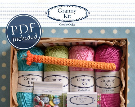 Lovely Granny Kit Crochet Kit Colourful Fun Box by Crochetobjet Crochet Kit for Beginners Of Unique 40 Models Crochet Kit for Beginners