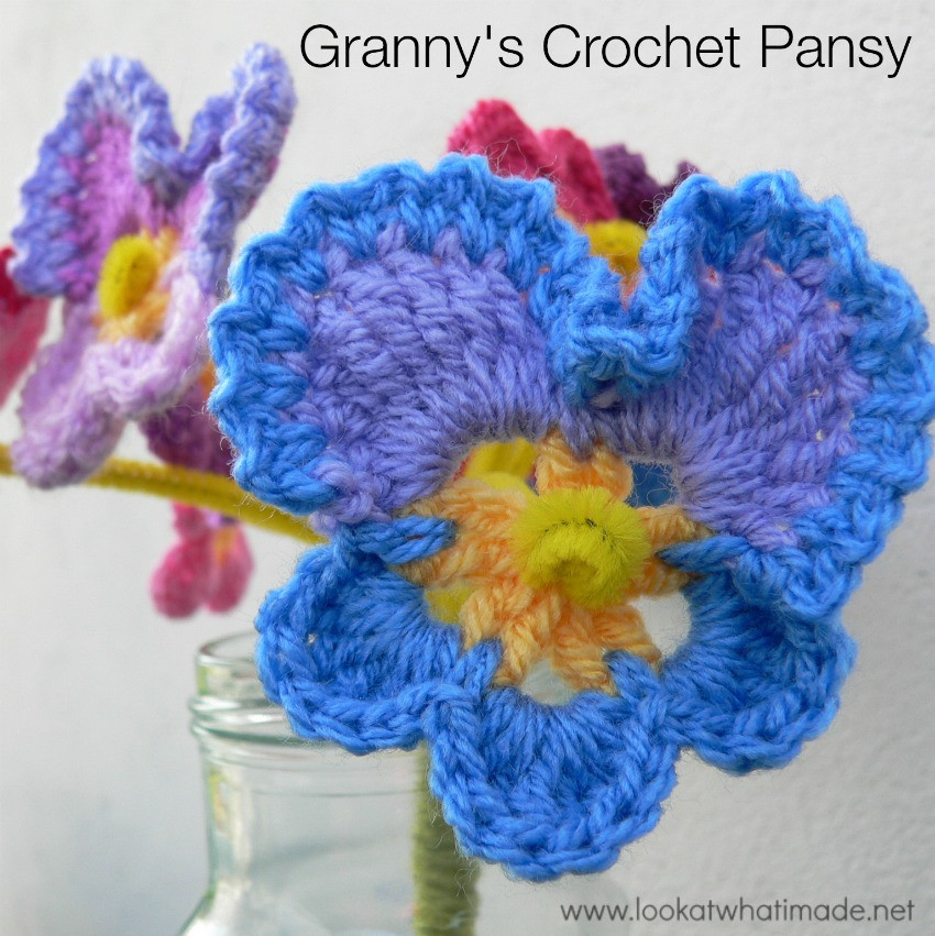 Granny s Crochet Pansy ⋆ Look At What I Made