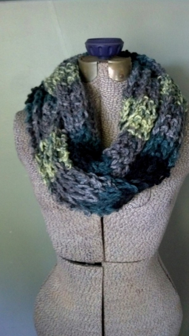 Lovely Gray Ombre Infinity Scarf Chunky Knit Circle Scarf Knit Circle Scarf Of Brilliant 47 Photos Knit Circle Scarf
