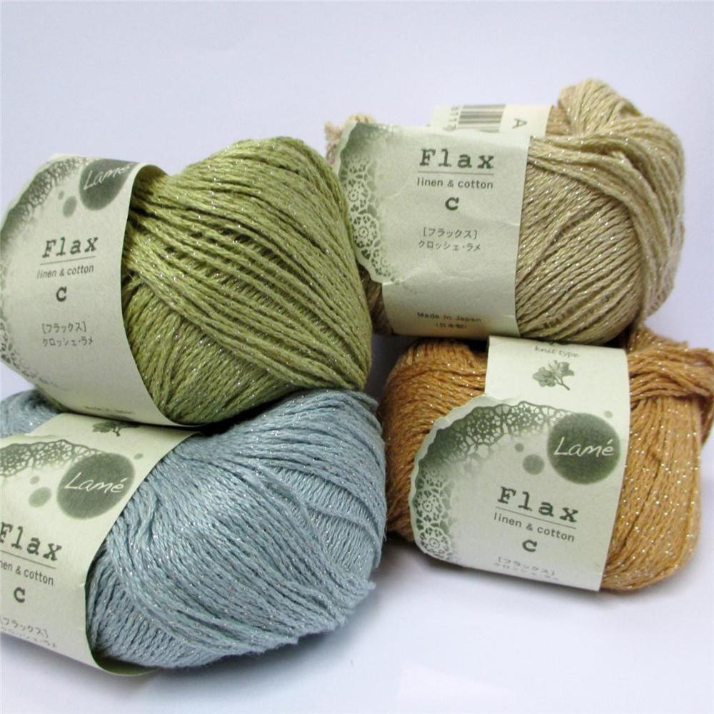 Lovely Hamanaka Flax C Sparkle Lame Linen Cotton Knitting Crochet Knitting Thread Of Amazing 48 Models Knitting Thread